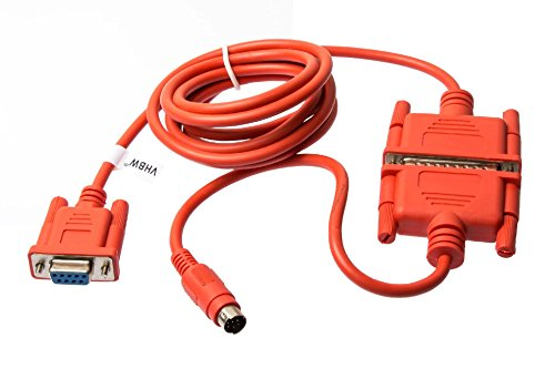 vhbw PLC Programmierkabel RS232, RS422, Mini-DIN passend für Mitsubishi Melsec FX, FX0N, FX1N, FX2N, FXOS, FX1S, A-Serie