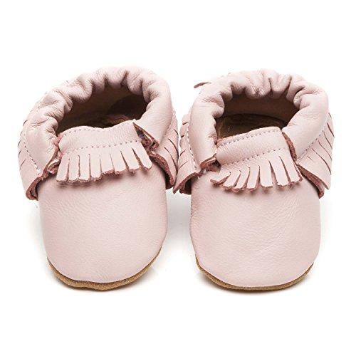 Manitobah diseño de zapatos de bebé líneas del color de rosa 6-12 más posibilidades sin fin