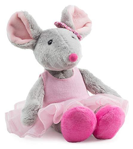 Schaffer 5652 Ballett-Maus Plüschtier, grau-rosa, M - 26 cm