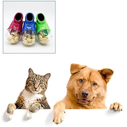 CloverGorge Lanzador de golosinas para Perros y Gatos, alimentador de bocadillos, catapulta,...