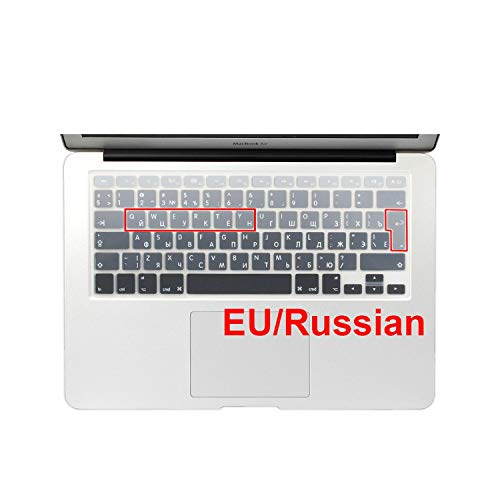Euro Spanish English Russia water Dust proof keyboard cover for macbook air 13 protector Gradual change colors pro 13 15 retina-EU Russian Grey-