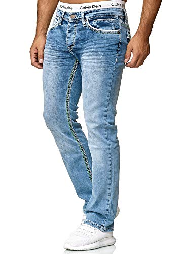 OneRedox Herren Jeans Denim Slim Fit Used Design Modell 5169 31