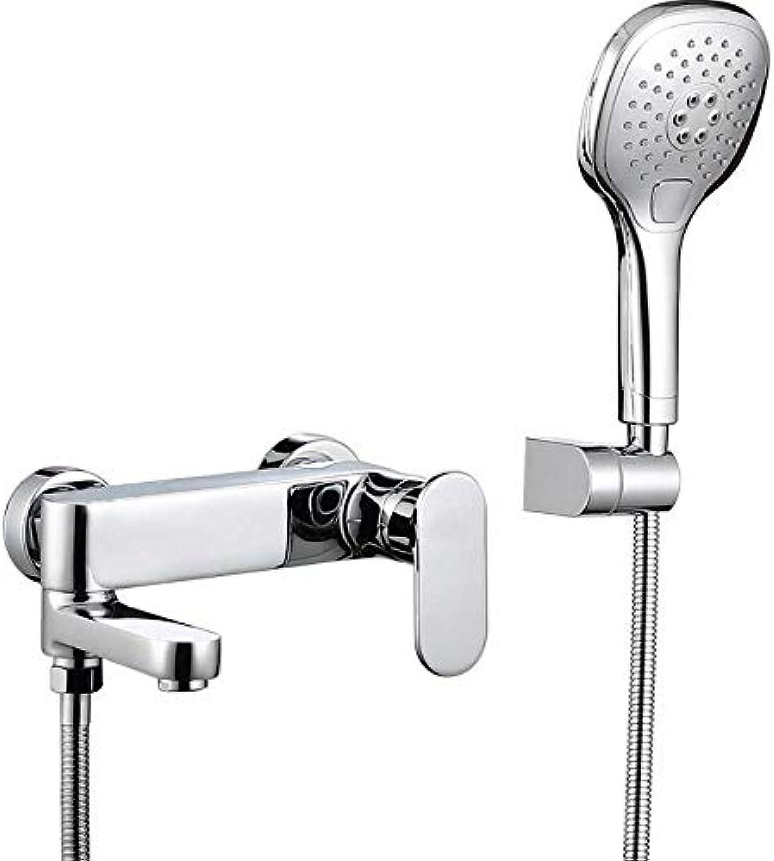 ALMD Kalte und warme duschen wasserhahn Deutschen Kupfer - badewanne - DAS ventil dusche kopf sprinkler - anzug zu hause