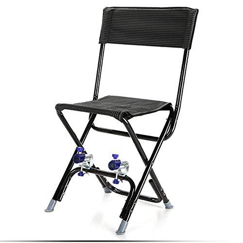 WANGLXFC Draagbare Vouwstoel, Draagbare Kampeerstoel, Ultra Light Tuinstoel Opvouwbare Visstoel, voor Outdoor Activiteiten, Lichtgewicht en Duurzaam Relax, Zwart