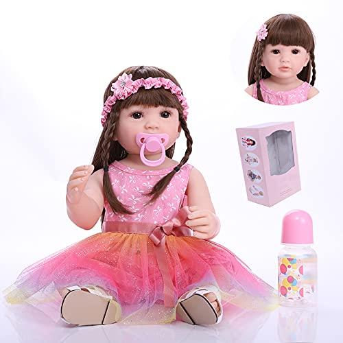 22 Pulgadas 55 cm Muñeca Reborn Realista Suave Cuerpo Completo Silicona Bebés Reborn Niñas Niño Recién Nacido Muñeca Juguetes Regalo para Niños