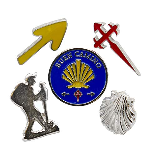 Camino Cats Jacob's Way Pin Badge Set of 5