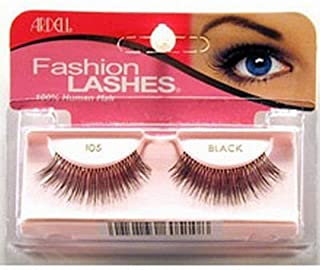 Ardell - Fashion Lashes #105, Reusable upto Three Weeks, Black (2-Pack)