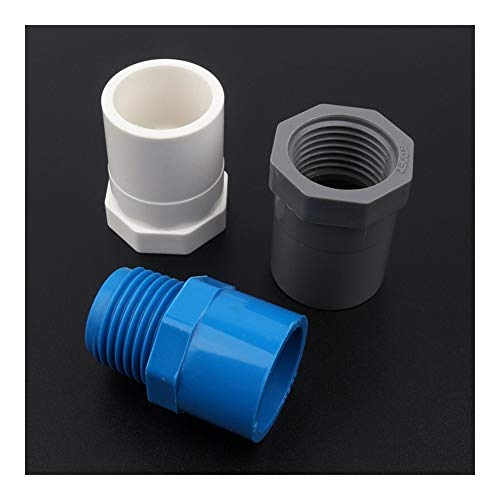 Conexión de reparación de jardín 50pcs 25mm ~ 3/4' rosca hembra/macho uniones de tubo de PVC Sistema de riego Tubería Conectores Jardín Agua Conectores de tubos grifo de la cocina