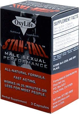 Stan Tall Male Sexual Performance 3 Capsules Works in 25 Minutes Improves Blood Flow and Performance product image