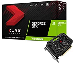 PNY GeForce GTX 1660 Super 6GB XLR8 Gaming Overclocked Edition Single Fan