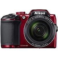 """Nikon COOLPIX B500 - Cámara digital de 16 MP (4608 x 3456 pixeles, TTL, 1/2.3"""", 4 - 160 mm), rojo"""