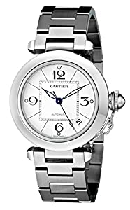 Cartier Men's W31074M7 Pasha C Stainless Steel Automatic Watch image