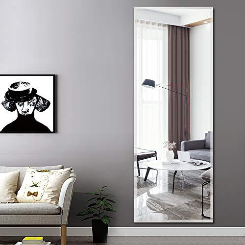 PexFix Wall Mounted Mirror, Contemporary Beveled Full Length Mirror, Rectangular Frameless Mirror, -