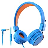 Elepinter Kids Headphones with 85dB Volume Limited Hearing Protection, Tangle-Free Cord, Wired On-Ear
