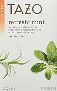 Tazo Tea, Refresh Mint, 20-Count (Package may vary, Pack of 3)