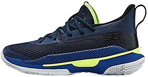 Under Armour UA Curry 7 - Zapatillas de baloncesto para niños (3,5), color azul marino