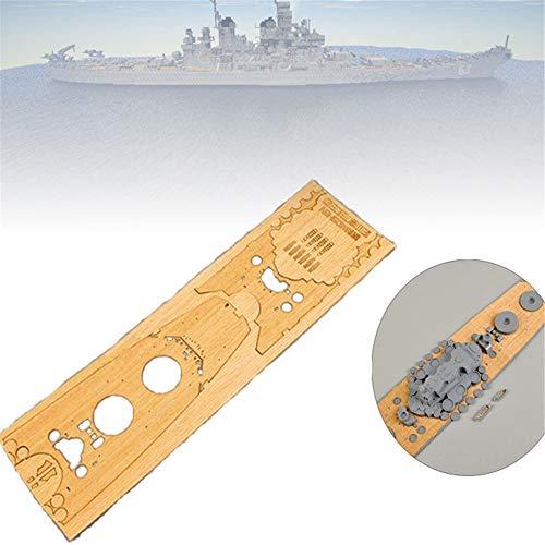 ChaRLes Cubierta De Madera Para Tamiya 78030 1:350 Escala Japonesa Battleship Yamato Modelo Accesorios De Reemplazo