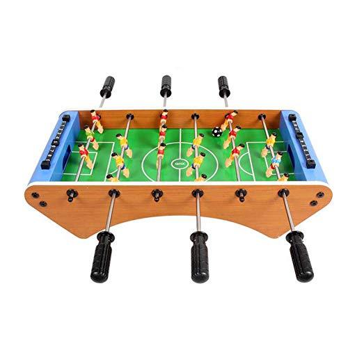 CKAN Multifunktionsspieltisch Tragbar Holz-Optik Beinhaltet Spieler, 2 Bälle, Integral Bar, Tischkicker Robust für Kinder, ErwachseneParty und Spielzimmer