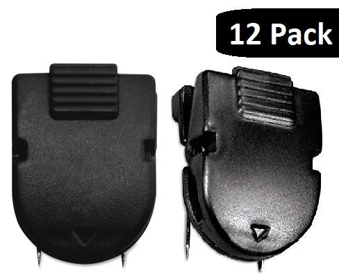 1InTheOffice Cubicle Clips, Black, 12/Pack (Black)