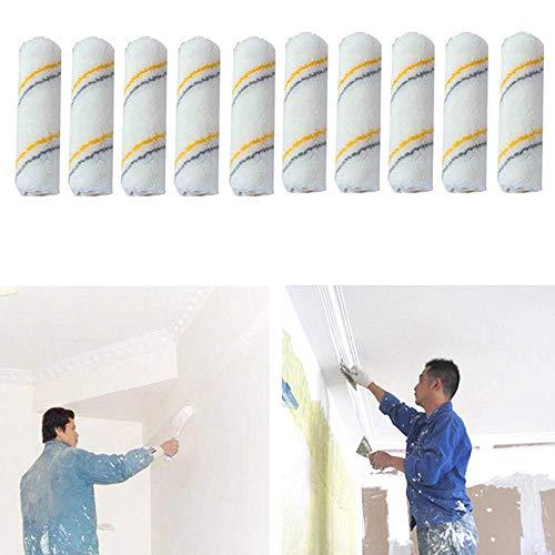 10 fundas para rodillo de pintura de 10 cm con fundas de mezcla de lana para pintura de casa de rodillos suministros de pintura