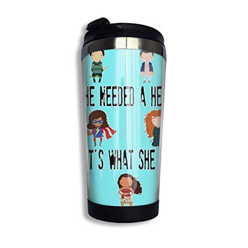 YHKC Taza de té, taza de viaje, taza de café, ventosa So That'S What She Became Coffee Travel Mug Cup Stainless Steel Vacuum Insulated Tumbler 13.5