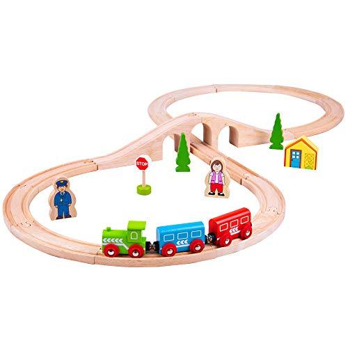 Bigjigs Rail Drewniana figurka ośmiu pociągu zestaw
