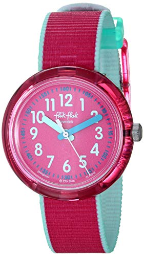 Flik Flak Mädchen Analog Quarz Uhr mit Textil Armband FPNP047