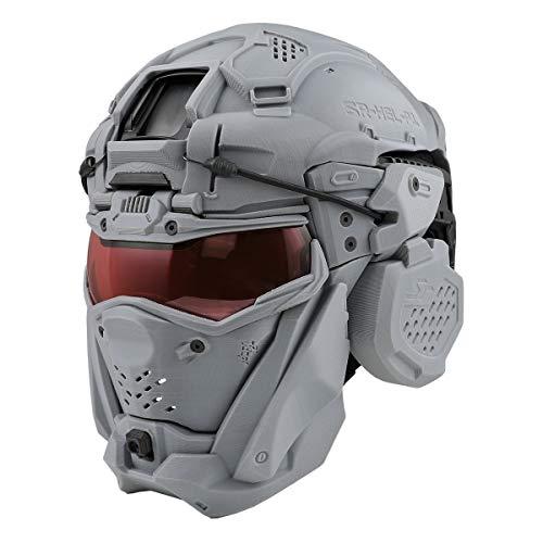 【同梱不可】 SRU タクティカルヘルメットセット (FAST BJヘルメット付属) GREY 【配送業者:佐川急便限定】