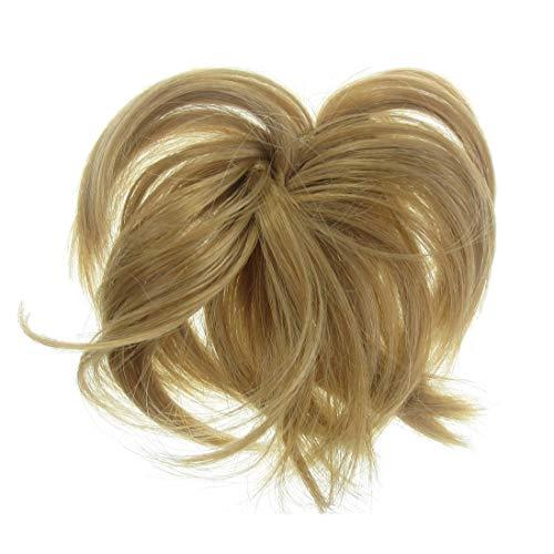 VANESSA GREY Toutes les couleurs disponibles, Chouchou Avec Extensions Bouclées Pour Chignon Haut Ou Bas Blond Doré Miel