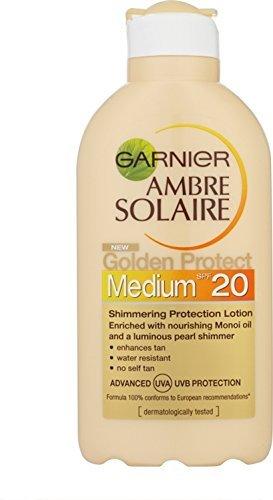 Garnier ambre solaire, factor de protección solar 20 golden - loción protectora - 200 ml