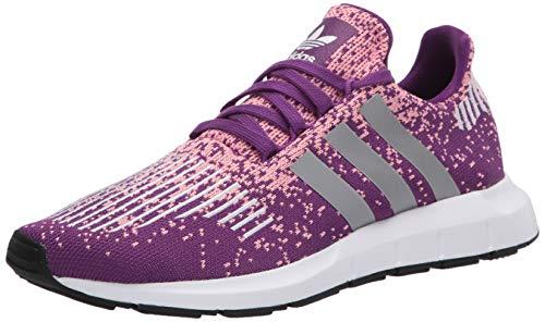 adidas Originals Women's Swift Run Sneaker, Glory Purple/Silver Met./Glory Pink, 8 M US