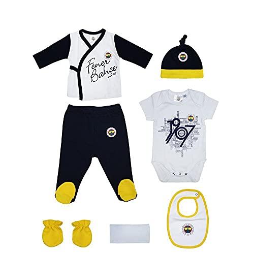 FENERBAHCE Original lizenziertes 7-teiliges Set für neugeborene Mädchen und Jungen 100% Baumwolle