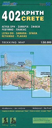 Lefka Ori, Samaria, Sfakia, Rethimno, Plakias (Kreta), 1.50 K, Wanderkarte, GPS-kompatibel, 2014 Ausgabe, ORAMA, # 402