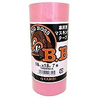 カモイ BIG BOSS 車両塗装用マスキングテープ 18mm×18m 7巻