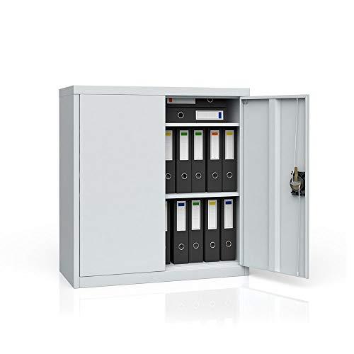OSKAR Aktenschrank Büroschrank Werkzeugschrank Metallschrank Universal Stahl Schrank (85 x 90 x 39...
