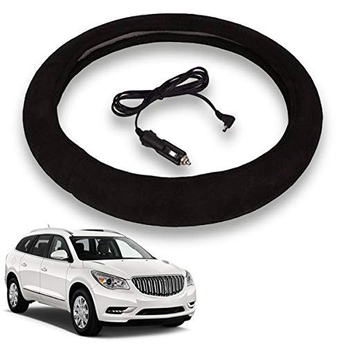 VaygWay Heated Steering Wheel Cover- 12V Black Warmer Car...