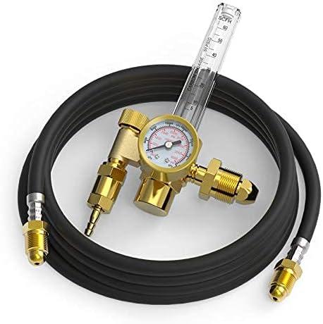 popular YESWELDER CO2 Argon Regulator with Gas Hose outlet sale TIG online sale Welder online