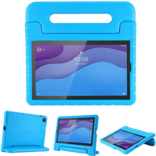 "ProCase Kids Case for Lenovo Tab M10 HD 2nd Gen / Smart Tab M10 HD 2nd Gen (TB-X306F TB-X306X), Lightweight Kids Friendly Shockproof Stand Cover Case for Lenovo M10 HD 2nd Gen 10.1"" 2020 –Blue"