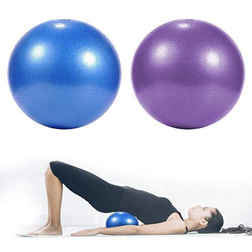 solawill Gymnastikball , Sitzball Anti-Burst Gymnastikball Klein Gymnastikball Pilates Ball Extra Dicker Yoga-Ball-Stuhl Fitness Balance Workout für Yoga Schwangerschaft Büro Balance Stuhl 2er-Set