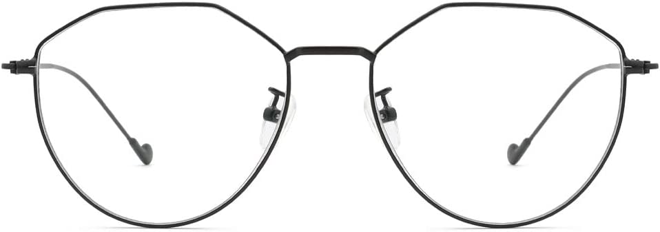 Cyxus Vintage Blue Light Blocking Eyeglasses Computer Eyewear Anti Eyestrain Irregular Frame Matte Black 8009