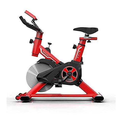 JHSHENGSHI Professionelles Indoor Cycling mit Armstütze, 22 kg Schwungrad, Pulse Belt-kompatiblem Speedbike, Ergometer bis 125 kg