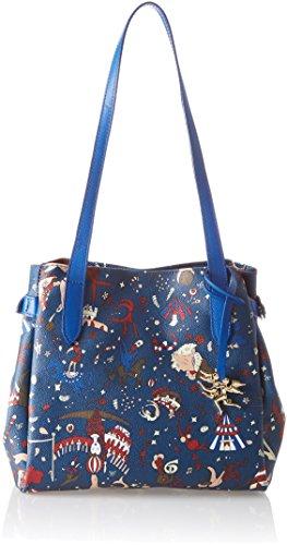 piero guidi 210484038, Borsa Tote Donna, Blu (Bluette), 27x24x16 cm