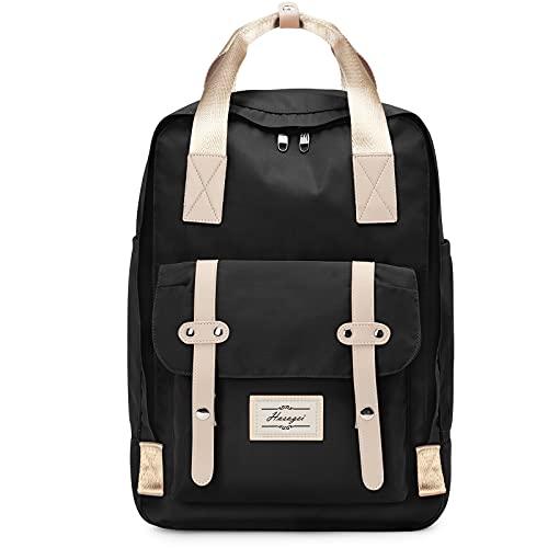 HASAGEI Rucksack Damen, Schulrucksack Mädchen Teenager Schule Backpack, Arbeitsrucksack Herren, Elegant Rucksäcke mit 15,6'' Laptopfach, Aesthetic Daypack für Universität Travel Freizeit Arbeit