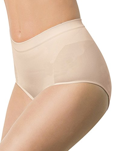 Mutande Contenitive Donna | Slip Senza Cuciture Modellante | Culotte Taglie Forti | Nero, Natural | 2XL, 3XL, 4XL | Made in Italy (2XL, Naturale)