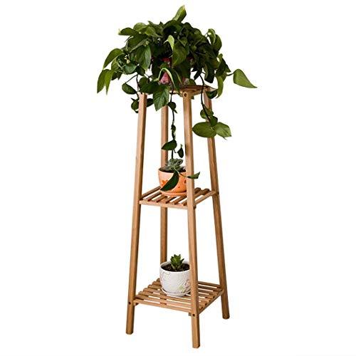 Stand Flower Holder Bonsai Display Shelf 3-tier Plant Stand   Flower Rack Display Shelf With Oak Materials For Indoor Flower Holder Wood Shelves 12.8x12.8x39.1in Flower Rack Plant Stand Multi Wood She