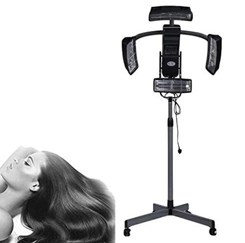 ROYWY 950W Standing Sèche Cheveux Chauffants Professionnel Cheveux Couleur Processeur Accélérateur assiette Chauffe-eau Salon Coiffeur Ajustable capuche avec roues A
