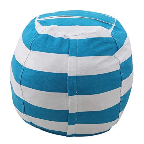 Eleusine Kuscheltier Aufbewahrung Sitzsack Organizer Kids Soft Sitzbezug (L Größe blau groß)