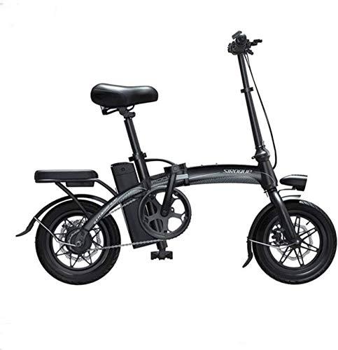Bicicleta, bicicletas eléctricas rápidas para adultos portátiles y fáciles de almacenar batería de iones de litio y acelerador de pulgar de motor silencioso con pantalla de velocidad LCD (color: blanc