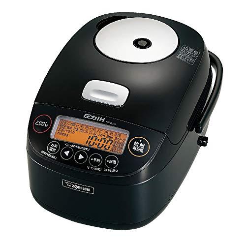 象印 炊飯器 5.5合 圧力IH式 極め炊き 鉄器コートプラチナ厚釜 ブラック NP-BJ10-BA