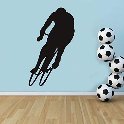 Sticker Mural décoration de la Maison Accessoires vélo athlète Silhouette Impression Design vélo Autocollant Mural Autocollant Chambre d'enfant